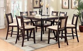 9pc dining room set faux marble insert modern style 9 piece counter height dining
