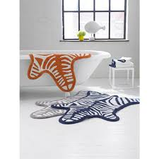 Zebra Bath Rug Orange Reversible Zebra Bathmat Bath Accessories Jonathan Adler