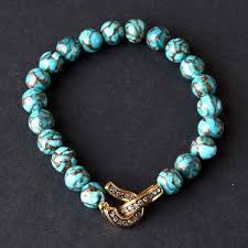 beaded bracelet clasp images Turquoise bead bracelet with diamond clasp lisa robertson jpg