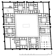 floor plan of qasr al hayr al sharqi palmyra archnet