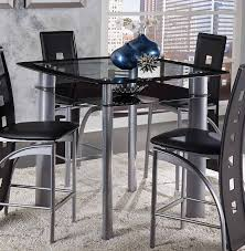 dining room tables glass top homelegance sona square glass top counter height dining table