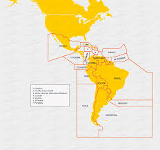 Central And South America Map by Calculation And Payment Of Airspace Fees