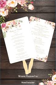 wedding program fan template wedding programs fans templates hondaarti net