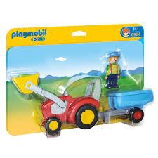 Anniversaire Tracteur by Fermier Avec Tracteur Et Remorque Playmobil 1 2 3 6964 U2013 La