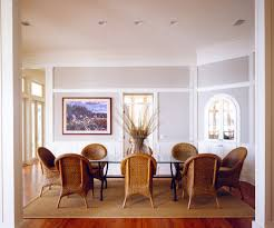 glass center dining room beach style with box moulding traditional