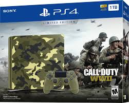 sony playstation 4 1tb limited edition call of duty wwii console