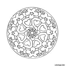 Coloriage Mandala Coeur dessin