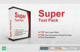 super text pack after effects preset videohive free download