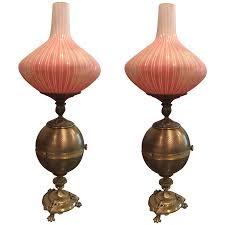 Hurricane Table Lamps Viyet Designer Furniture Lighting Antique Brass Hurricane