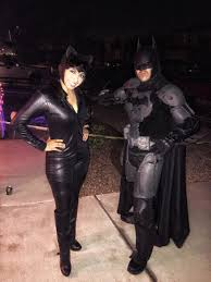 batman arkham city halloween costumes my beautiful wife and i dressed as catwoman and batman from