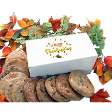 thanksgiving gift box with 12 gourmet cookies by the cookie garden