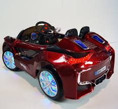Bmw I8 Red - bmw i8 style ride on toy car remote control 12volts battery