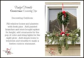 Inexpensive Christmas Decorations Outdoor Christmas Decorations On A Budget Designed Decor