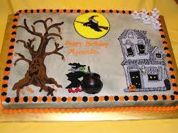 halloween birthday cakes halloween haunted birthday theme cake cakecentral com