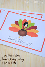 free printable thanksgiving thank you cards from