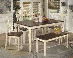 Dining Room Side Table Whitesburg Rectangular Dining Room Table 4 Side Chairs And Bench