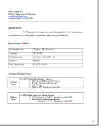 resume format for fresher standard cv format for freshers pdf tomyumtumweb