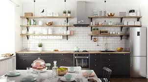 cuisine avec etagere idee etagere cuisine etagere deco cuisine atagare rangement