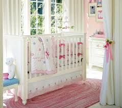 Pink Flower Curtains Window Treatments Nursery Pink Painted Wall Beige Blockout Curtain