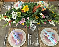 carrots and cabbage and tulips for a spring tablescape celebrate