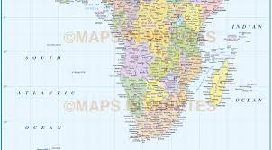 Africa Map With Countries by Digital Vector Africa Political Map 10 000 000 Scale In