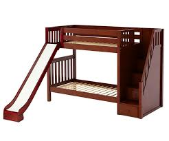 maxtrix ecstatic medium bunk bed with stairs and slide bed
