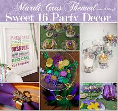mardi gras themed sweet 16 party ideas