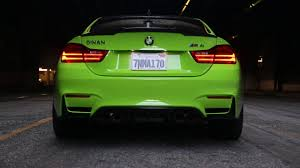green bmw m4 2015 green dinan stage 2 bmw m4 f82 exhaust and rev youtube