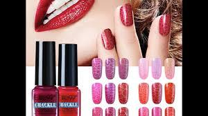 crackle nail gel polish youtube