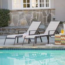 Pool Chaise Lounge Outdoor Chaise Lounges Hayneedle