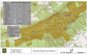 Virginia Mountains Map by George Washington U0026 Jefferson National Forests Hiking Day Hiking