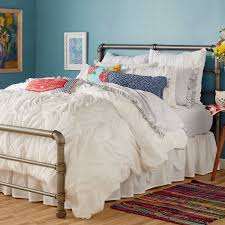 Comforters From Walmart The Pioneer Woman Ruched Chevron Comforter White Walmart Com