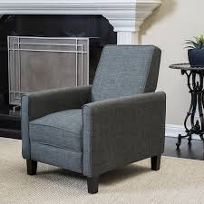 Fabric Recliner Chair Christopher Home Darvis Grey Fabric Recliner