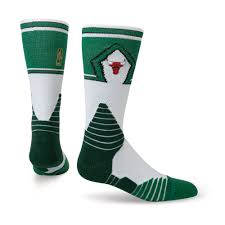st patricks day don c bulls green l mens nba on court socks