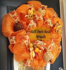 Halloween Wreaths Using Deco Mesh by Fall Deco Mesh Wreath Adventure Youtube