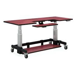 Ergonomic Computer Desk Desk Computer Desk Adjustable Height Single Surface Hand Crank