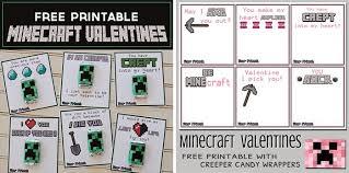 minecraft valentines free printable minecraft valentines boy girl styles