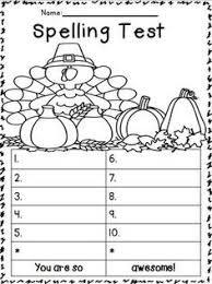 freebie spelling test templates teaching ideas teaching