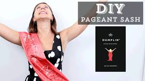 diy how to make a beauty queen pageant sash inspired by dumplin