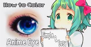 anime eye coloring tutorial using colored pencils youtube
