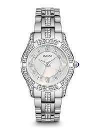 bulova watches ladies bracelet images Bulova 96l116 women 39 s crystal watch bulova jpeg