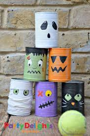 halloween party game ideas halloween tin can bowling 15 super fun diy halloween party games