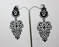 black chandelier earrings black chandelier earrings etsy