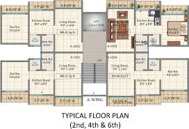hill view residency wing even floor cluster plan sq ft apartment