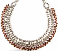 necklace beaded designs images Designer necklace from rajasthan with gold plated beads peridot jpg