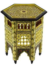 amazon com wood table moroccan painted light yellow kitchen u0026 dining