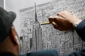 new york acclaimed autistic british artist sketch new york city