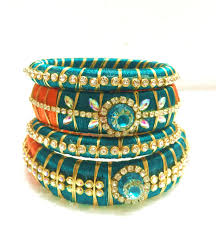 how to recycle old bangles in to a designer silk thread bangle