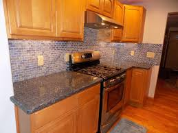 Recycled Glass Backsplash by Stunning Blue Recycled Glass Tile Kitchen