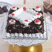 square cake send black forest square cake online by giftjaipur in rajasthan
